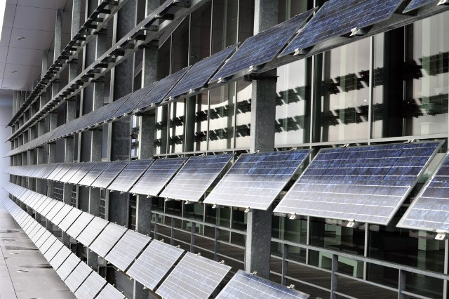 Panneaux solaires Crédits : D. Leroux / BDI / Marque Bretagne