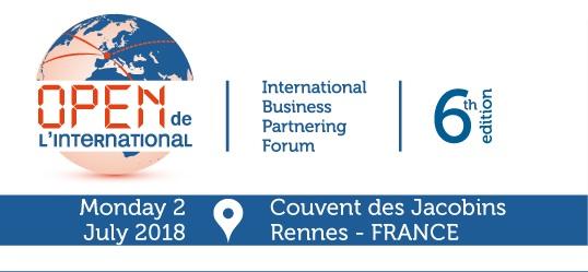 Open de l'international, the international business partnering forum, 2 July 2018, Rennes.