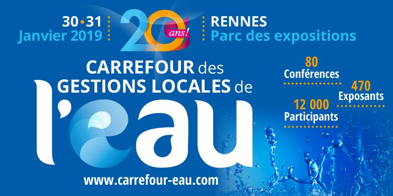 Carrefour de l'Eau, Rennes, 30 & 31 January 2019.