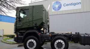 Centigon armoured vehicle cabs for the Dutch army. Photo credit : Centigon