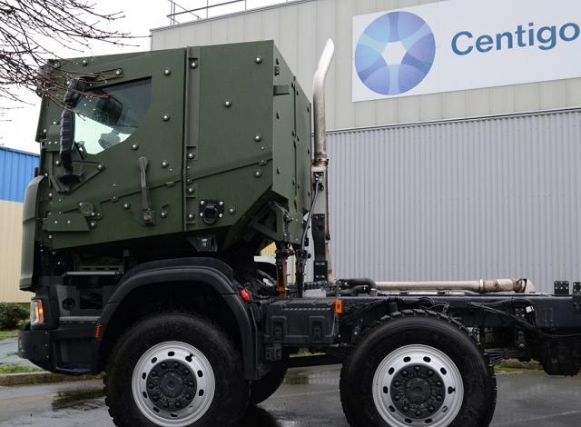 Centigon armoured vehicle cabs for the Dutch army. Photo credit : Centigon