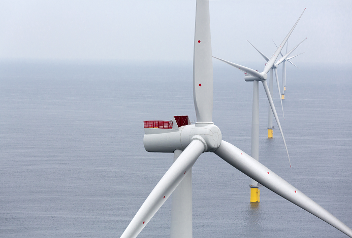 New turbine model for St Brieuc offshore wind farm project. Photo credit : Ailes Marines