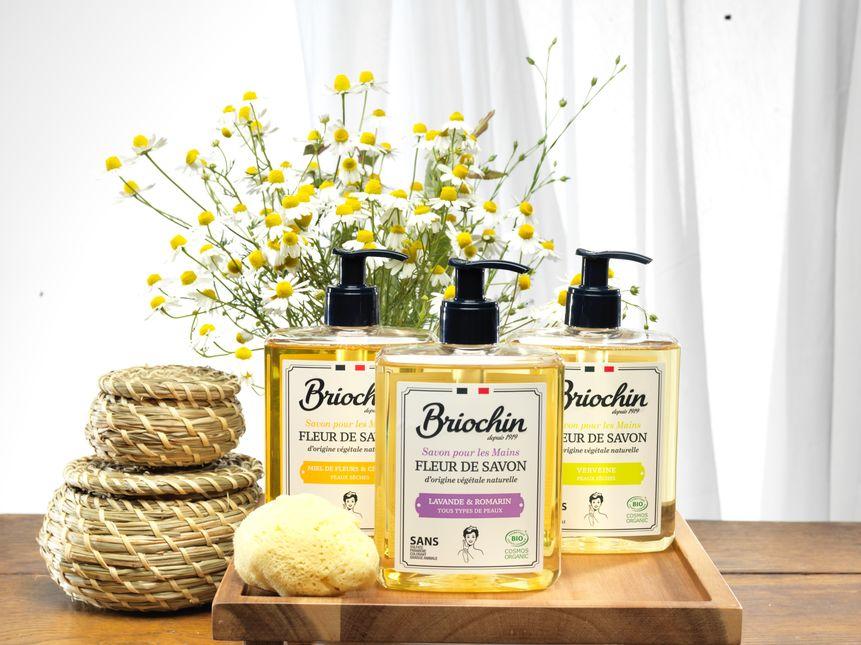 Briochin. Les cosmétiques Fleur de savon sont désormais certifiés bio. Photo credit : Briochin