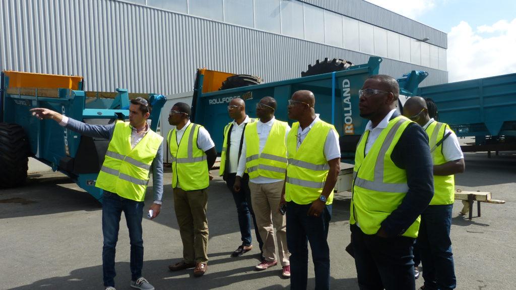 Délégation nigériane chez Rolland Remorques-Juillet 2019. Photo credit : Bretagne Commerce International